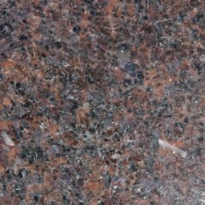Bras & Mattos Sample- Domestic Mahogany Granite for hedstones