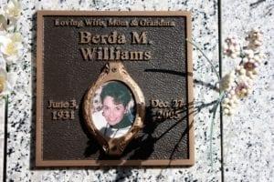 Williams Photo Bronze Memorial