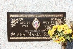 Ana Maria Floral Bronze Plaque
