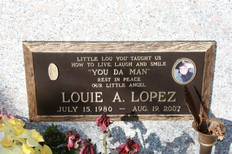 Lopez Medallion Bronze Plaque