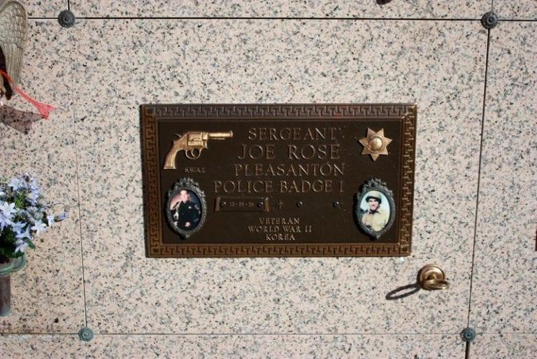 Sargent Rose Bronze Plaque