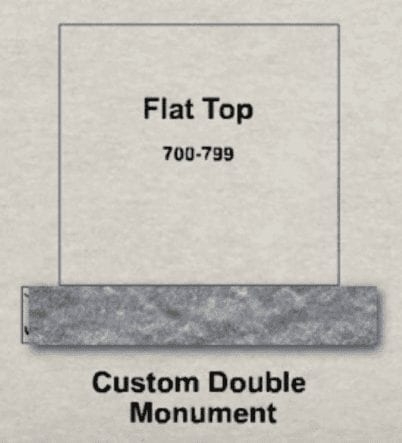 Traditional Flat Top Upright Monument