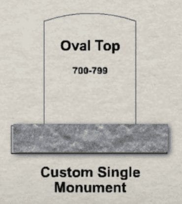 Oval Upright Monument