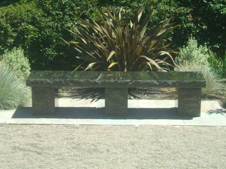 Three Pillar Modern Bench Memorial