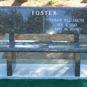 Foster Park Bench Memorial
