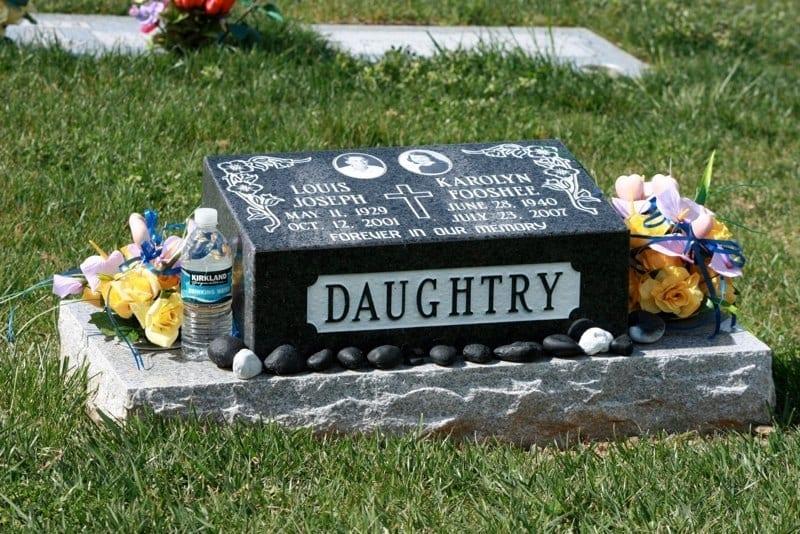Daughtry Slant Bevel Headstone