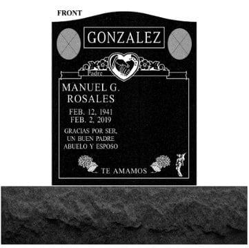 Gonzales Custom Upright Gravestone
