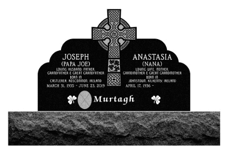 Celtic Cross Memorial Engraving