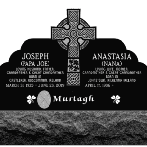 Murtagh Custom Upright Headstone