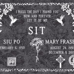 Sit Flat Grave Marker
