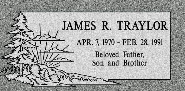 Traylor Flat Headstone