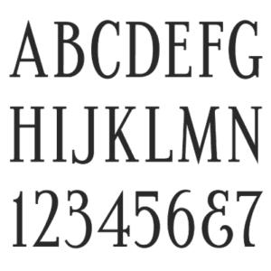 Condensed Roman Memorial Font