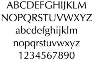 Optima Custom Memorial Font