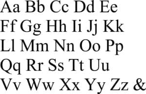 Times New Roman Custom Memorial Type