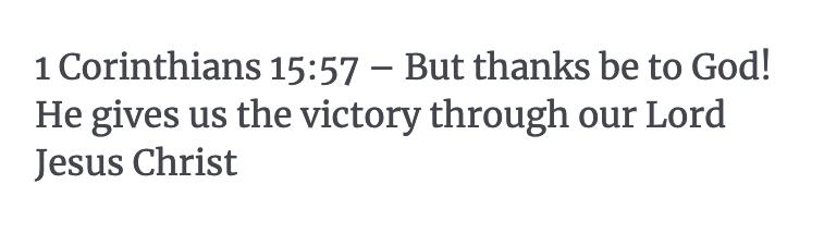 1 Corinthians 15:57 Verse