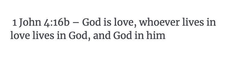 1 John 4:16b Verse
