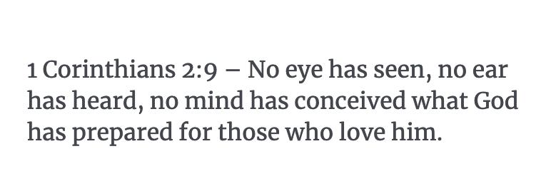 1 Corinthians 2:9 Verse