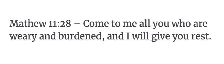 Mathew 11:28 Verse