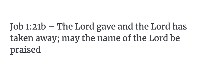 Job 1:21b Verse