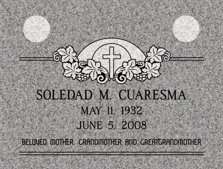 Georgia Grey Granite Headstones 83
