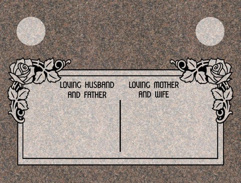 India Mahogany Granite Headstones 11