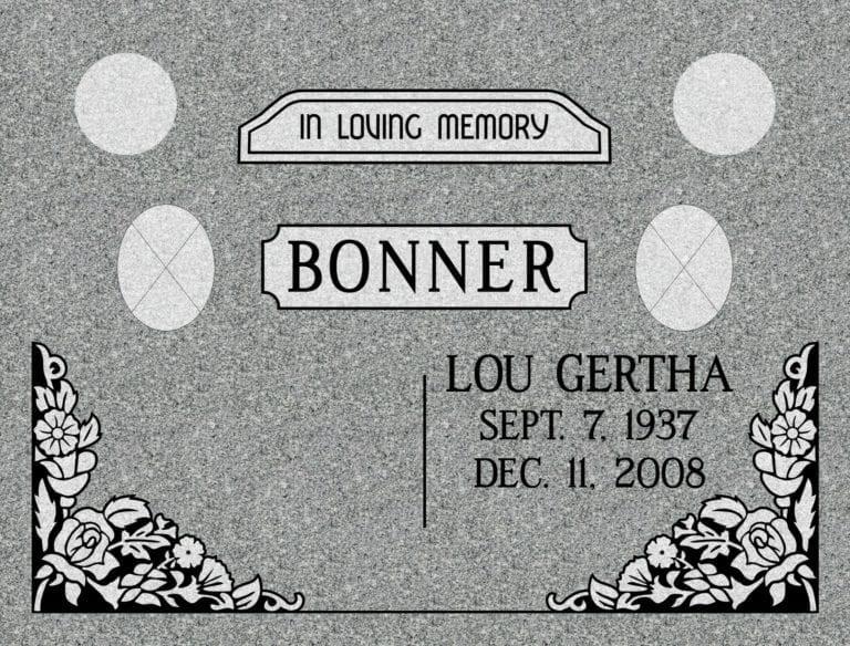 Georgia Grey Granite Headstones 80