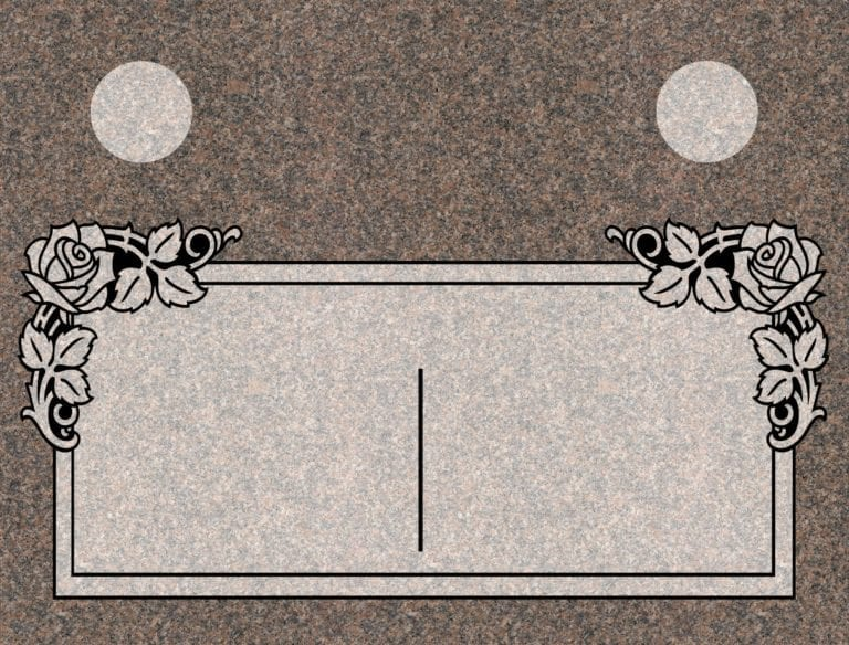 India Mahogany Granite Headstones 10