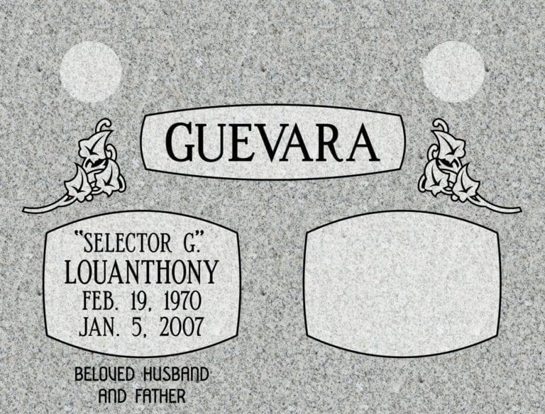 Georgia Grey Granite Headstones 79