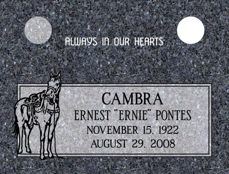 Blue Pearl Granite Headstones 27