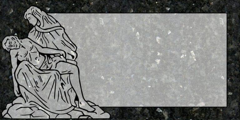 Blue Pearl Granite Headstones 24