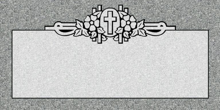 Georgia Grey Granite Headstones 65