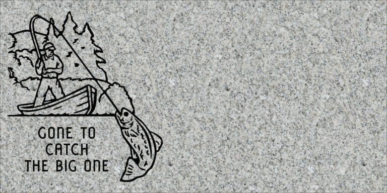 Georgia Grey Granite Headstones 64