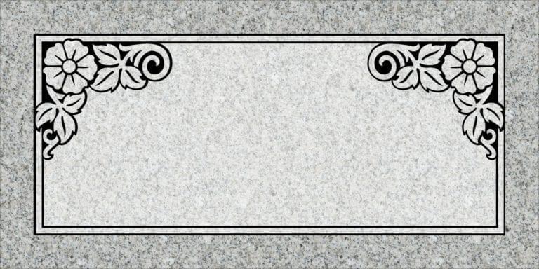 Georgia Grey Granite Headstones 60
