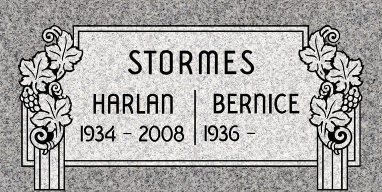 Georgia Grey Granite Headstones 57