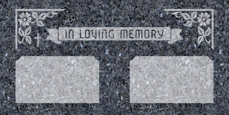 Blue Pearl Granite Headstones 18