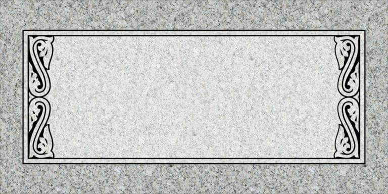 Georgia Grey Granite Headstones 53
