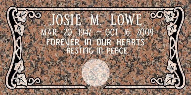Maple Rose Granite Headstones 4