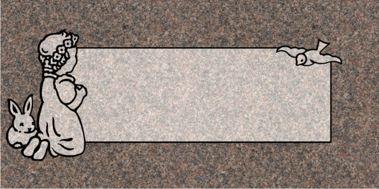 India Mahogany Granite Headstones 6