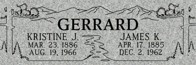 Georgia Grey Granite Headstones 42