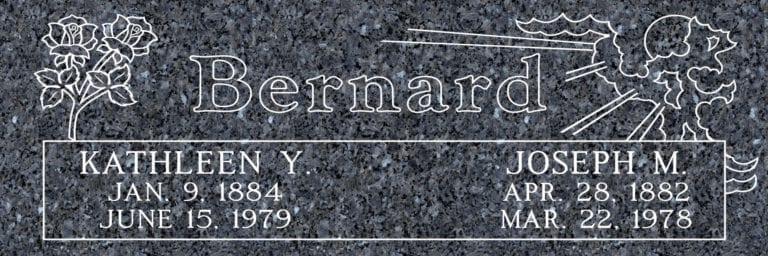 Blue Pearl Granite Headstones 14
