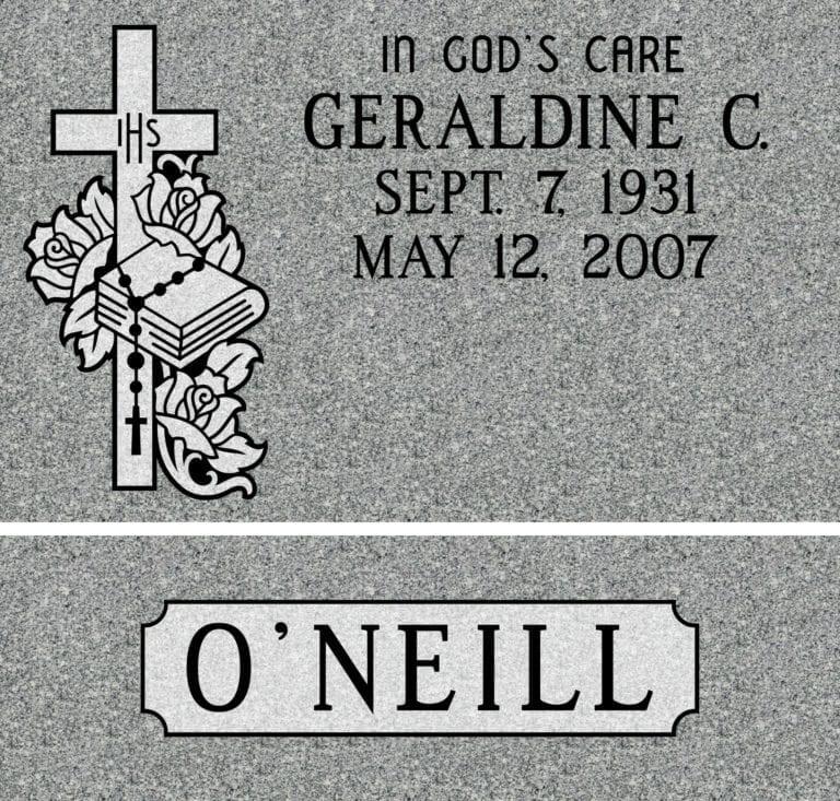 Georgia Grey Granite Headstones 30