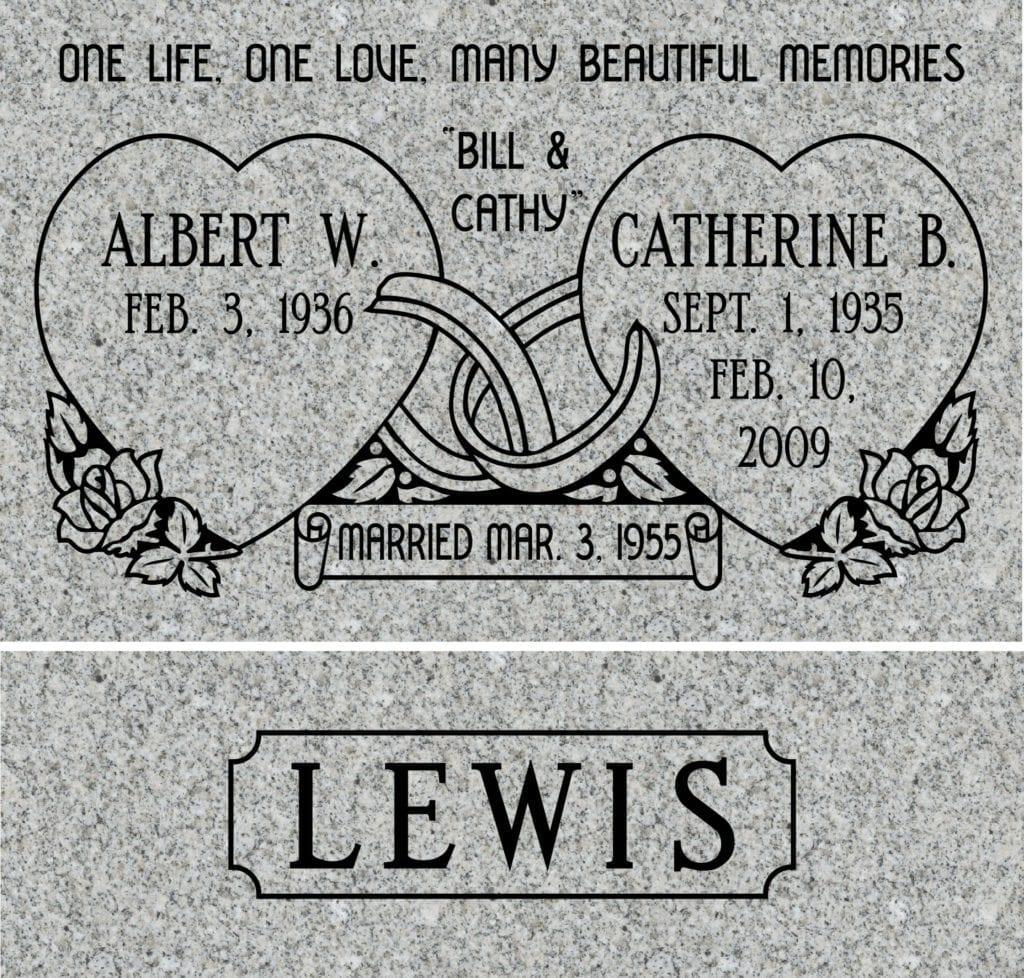Small Bevel Grave Marker Design 4