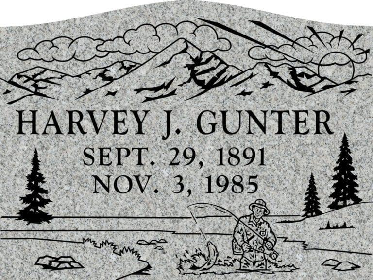 Georgia Grey Granite Headstones 25