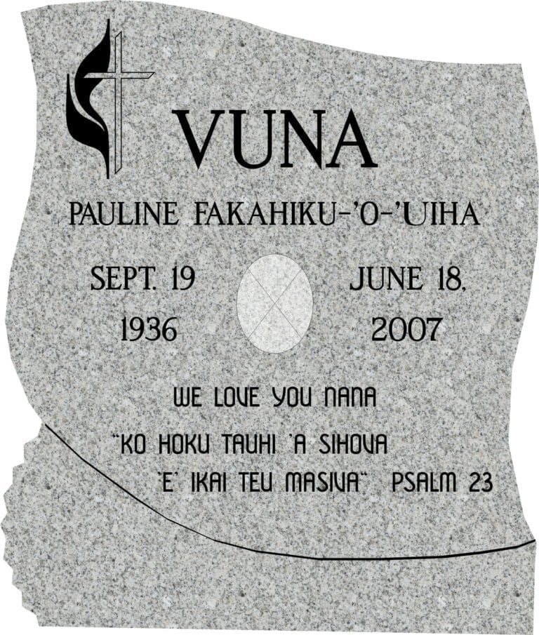 Designing an Upright Headstone Monument. 17
