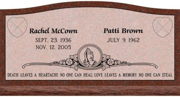 Upright Headstone Memorial