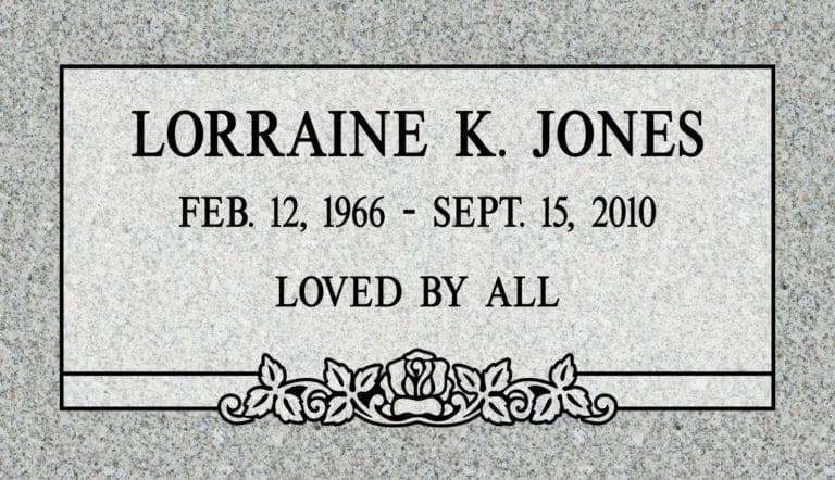 Georgia Grey Granite Headstones 76