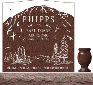Single Memorial Upright Headstones 2