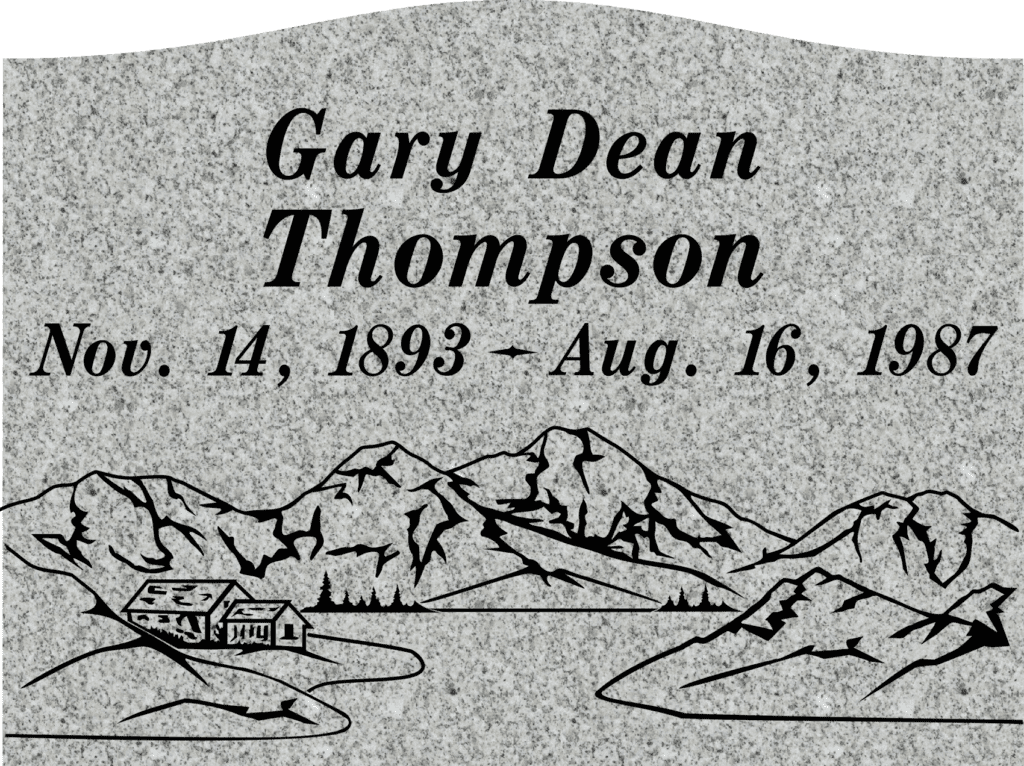 Single Memorial Upright Headstones 6