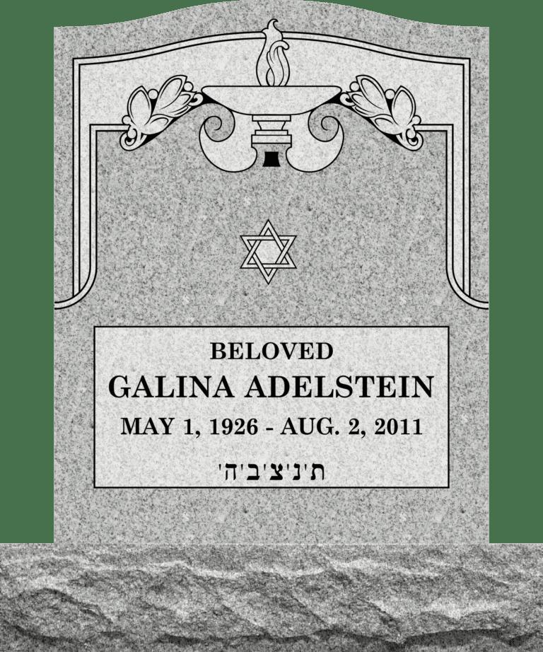 Georgia Grey Granite Headstones 13
