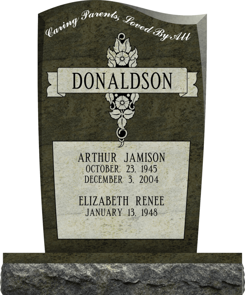 Designing an Upright Headstone Monument. 9